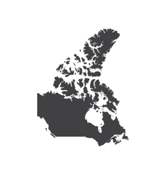 Canada map silhouette vector
