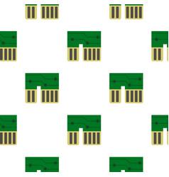 Computer chipset pattern flat vector