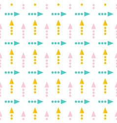 Cute geometrical arrow seamless pattern background vector