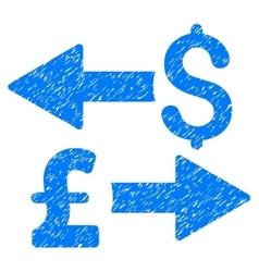 Dollar pound transactions grainy texture icon vector