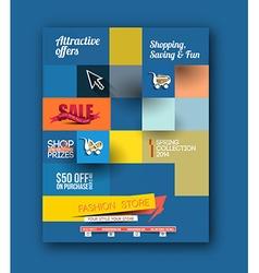 Fahion shopping center flyer vector