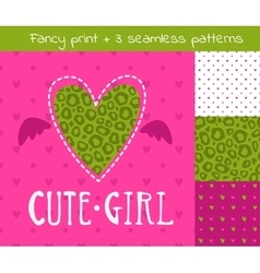 Fancy girlish set vector