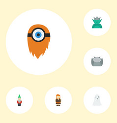 Flat icons goblin huge man halloween and other vector