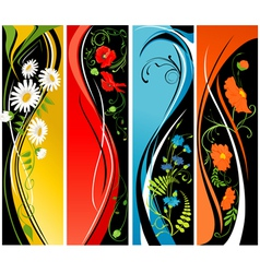 flowers banner vector image vector image