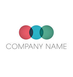 geometric circles business logo company name text vector image
