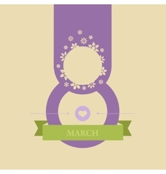 Greeting card on the day of march 8 vector