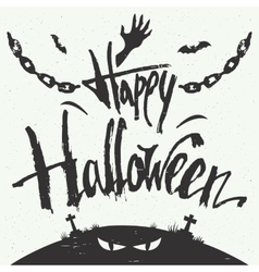 Happy Halloween hand drawn typography vector image vector image