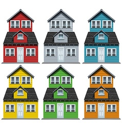 House with six different colors vector image vector image