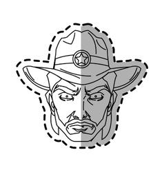 Isolated cowboy cartoon design vector