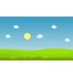 Landscape of hill with cloud vector