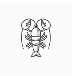 Lobster sketch icon vector