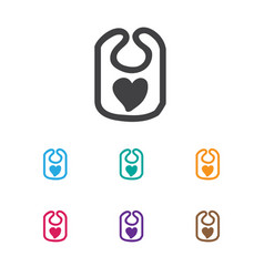 Of infant symbol on bib icon vector