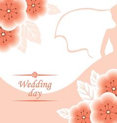 pink wedding vector image vector image