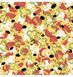 Pizza pattern vector