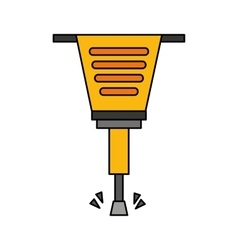 pneumatic hammer tool isolated icon vector image