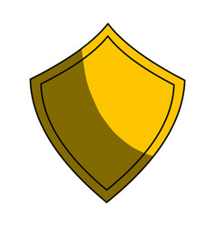 security web padlock shield vector image
