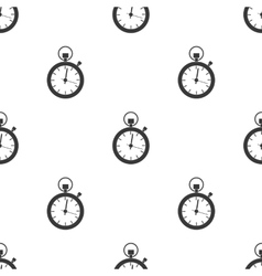 Stopwatch icon in black style isolated on white vector image vector image