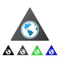 terra triangle flat gradient icon vector image vector image