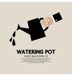 Watering pot vector image vector image