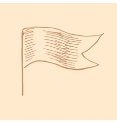 Waving flag in vintage engrave style vector