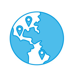 world locations symbol vector image vector image