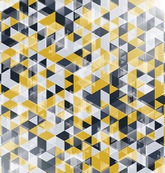 Golden and black geometric background with vector