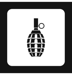 Hand grenade icon simple style vector