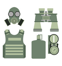 Military body armor symbols armor set forces vector