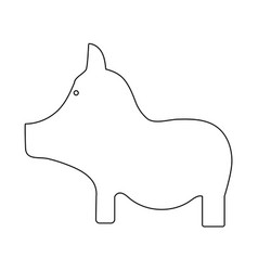 Pig the black color icon vector