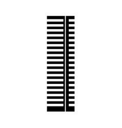 Black icon tall building vector