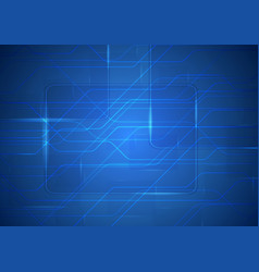 Tech sci-fi abstract blue circuit board background vector