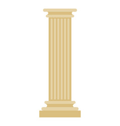 Greek column isolated antique post ancient vector