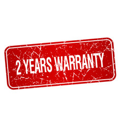 2 years warranty vector