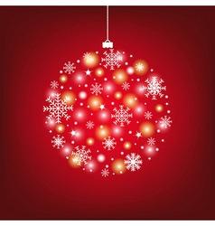 Abstract Christmas Ball vector image