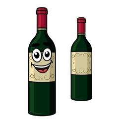 Cartoon wine bottle vector