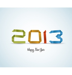Paper happy new year 2013 card vector