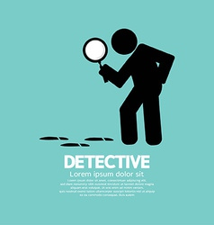 Detective symbol graphic vector
