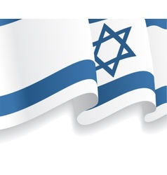 Background with waving israeli flag vector