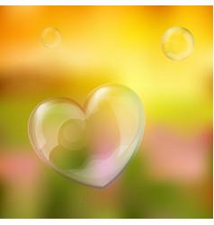 bubble heart vector image