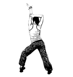 aerobics pose vector image