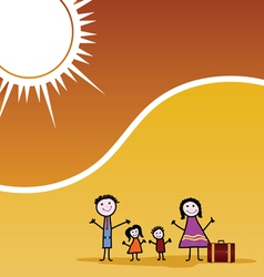Family travel color vector