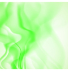 Abstract background of green smoke vector