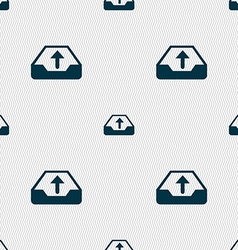 Backup icon sign seamless pattern with geometric vector