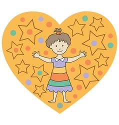 kids heart2 vector image