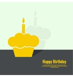 Abstract background with birthday cupcake vector