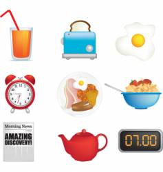 breakfast icons vector image