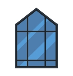 Different types house windows elements vector