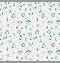 Abstract circles seamless pattern vector image vector image