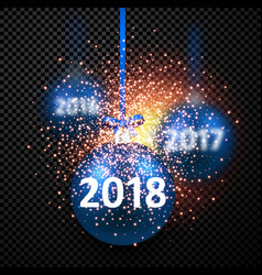 black 2018 new year background vector image