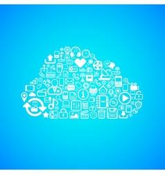 Computer cloud icon vector